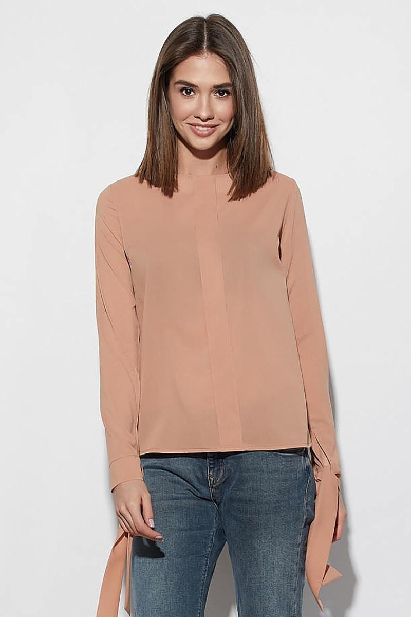 (S, M, L) Унікальна бежева жіноча блузка Melania