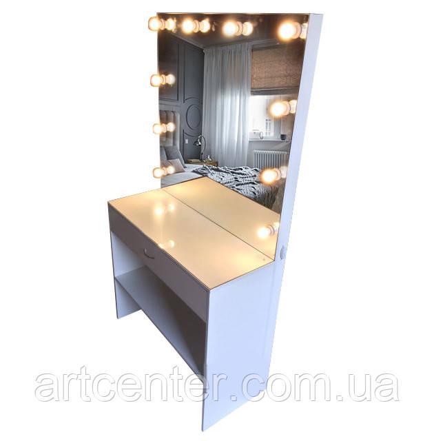 Визажный стол, туалетный столик с ящиками и полочкой внизу в салон красоты, для дома