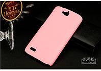 Чехол накладка бампер для Huawei Honor 3C Lite розовый