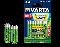 4шт аккумулятор VARTA 2600mAh AA Ready 2 Use ACCU