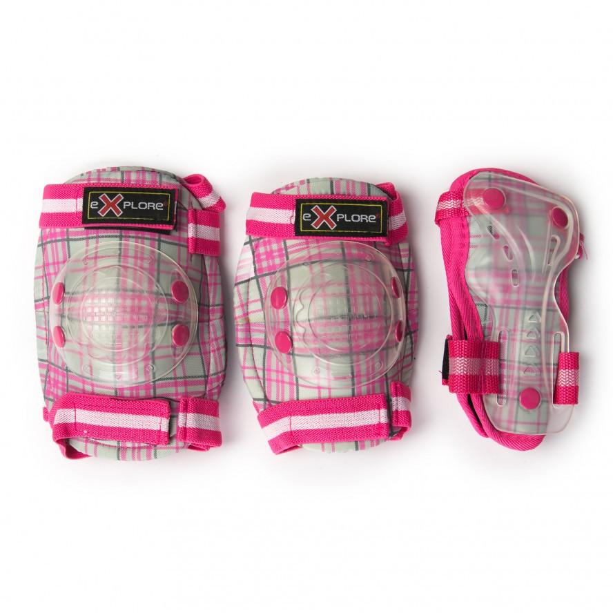 Комплект защитного снаряжения Cooper (розовая в клетку)