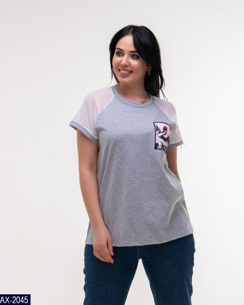 Женская футболка свободная на лето