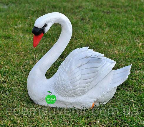 Садовая фигура Лебедь шипун белый, фото 2