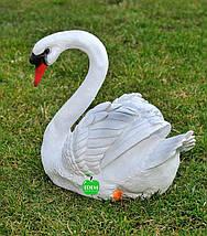 Садовая фигура Лебедь шипун белый, фото 3
