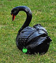 Садовая фигура Лебедь шипун черный, фото 2