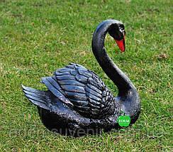 Садовая фигура Лебедь шипун черный, фото 3