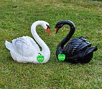 Садовые фигуры Лебедь шипун черный и Лебедь шипун белый