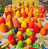 """Пасхальная восковая свеча """"Яйцо с кружевами цветное"""" из пчелиного воска, фото 5"""