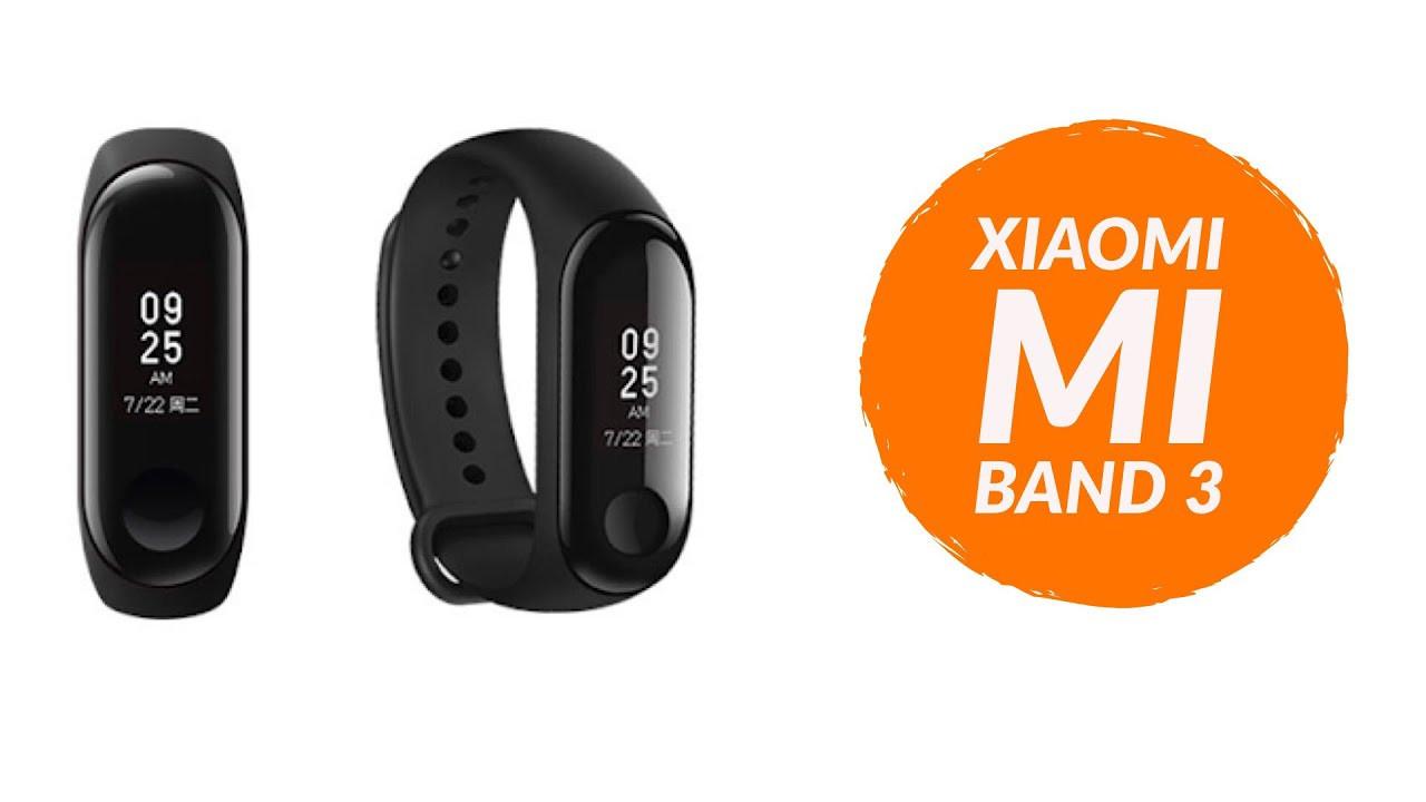Фитнес браслет Mi Band 3 Black ORIGINAL Xiaomi