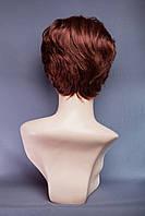 Натуральный парик №3, цвет каштан с яркой краснинкой