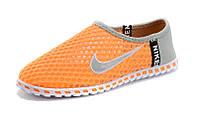 Кроссовки летние Nike Free orange-grey, фото 1