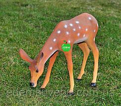 Садовая фигура Косуля пасущаяся, фото 2