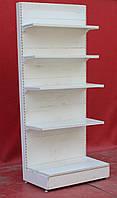 Торговый пристенный (односторонний) стеллаж «Регалс» 230х97 см., белый, Б/у, фото 1