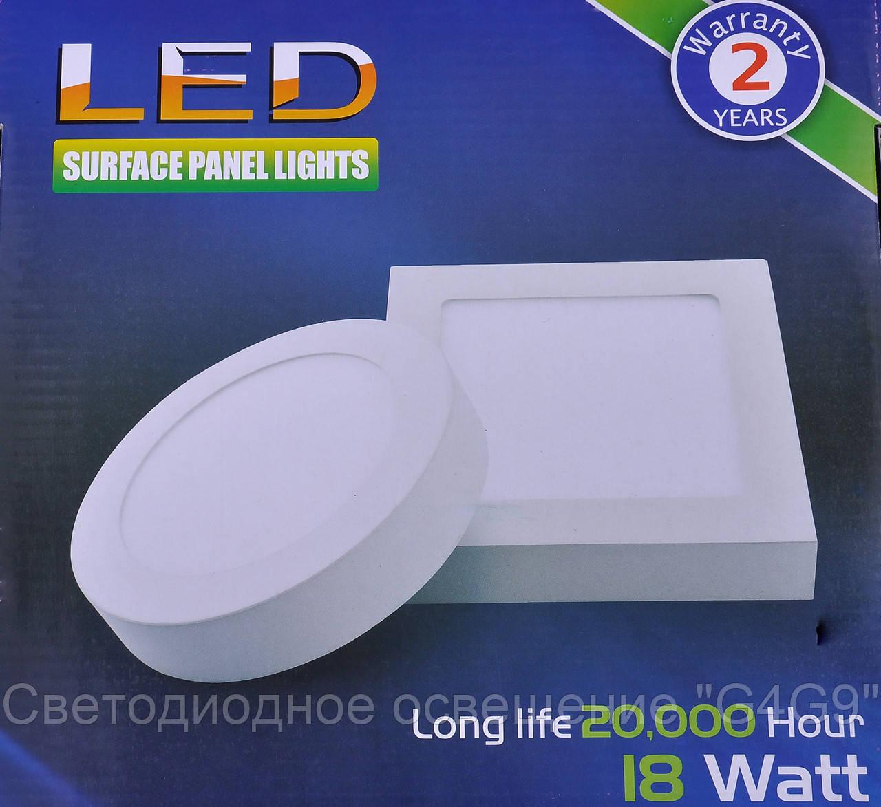 Накладные точечные светильники форма круг 18W