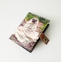 """Обложка для биометрического паспорта """"Мопс в пледе"""""""