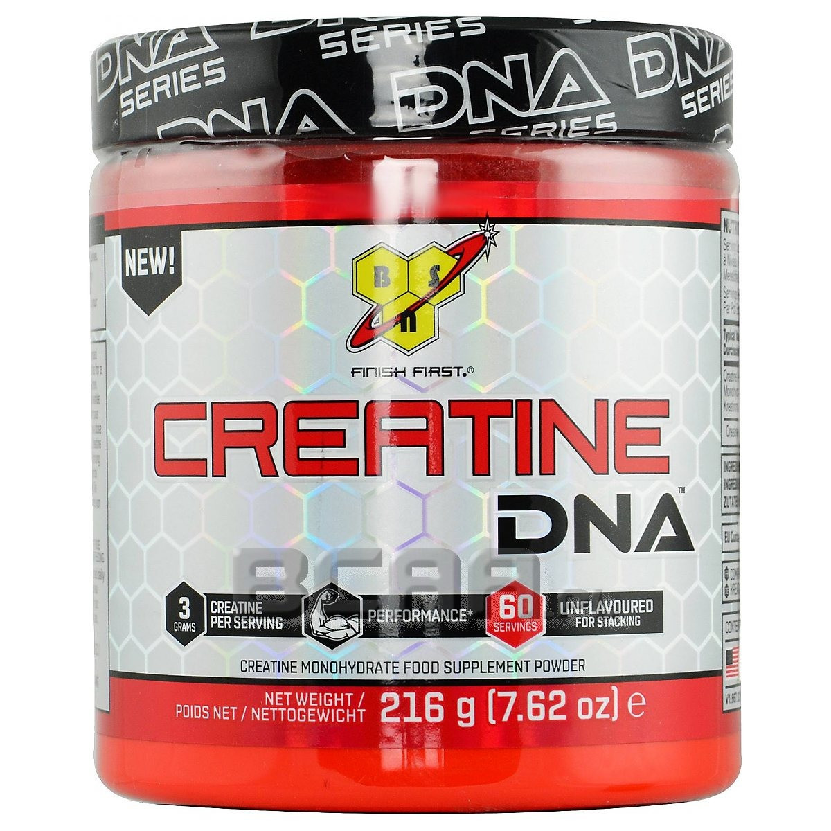 Креатин BSN Creatine DNA 216 g, БСН Креатин ДНА 216 г без вкуса