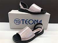Женские кожаные босоножки Teona фиолетовый сатин 36,37,39,40
