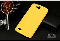 Чехол накладка бампер для Huawei Honor 3C Lite жёлтый