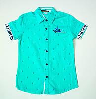 Стильная рубашка-шведка  для мальчика рост 122 cм, фото 1