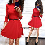 Женское стильное платье с люрексом и юбкой-солнце (в расцветках), фото 4