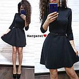 Женское стильное платье с люрексом и юбкой-солнце (в расцветках), фото 2