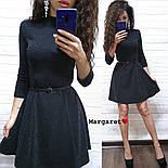 Женское стильное платье с люрексом и юбкой-солнце (в расцветках), фото 5