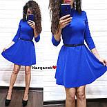 Женское стильное платье с люрексом и юбкой-солнце (в расцветках), фото 7