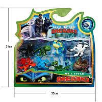 Набор игрушек с мультфильма Как приручить дракона Dragons   8 Фигурок  Как приручить дракона 3 в блистере