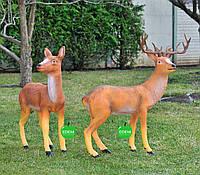 Садовая фигура Олень стоячий и Олениха стоячая
