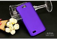 Чехол накладка бампер для Huawei Honor 3C Lite фиолетовый