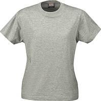 Женская футболка Ladies Heavy T-shirt от ТМ Printer Essentials (цвет серый-меланж)
