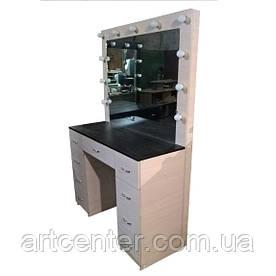 Стол для визажиста, столик с зеркалом и подсветкой