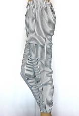 Жіночі літні штани на резинці в полоску з високою талією, фото 2
