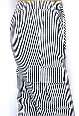 Жіночі літні штани на резинці в полоску з високою талією, фото 3