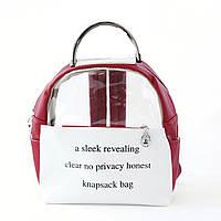 Молодіжний прозорий рюкзак для дівчини опт, фото 1