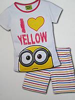 Модная комплект футболка и шорты Mиньон 110\116