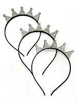 Обруч корона со стразами