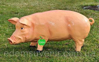Садовая фигура Свинья большая и Кабанчик средний, фото 2