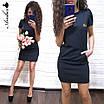 Повседневное трикотажное платье с коротким рукавом и карманами, фото 3