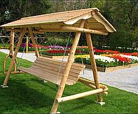 Дерев'яна гойдалка «Лебідь» від виробника для дому та саду