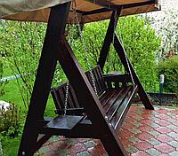 Дерев'яна гойдалка «Барон» від виробника для дому та саду
