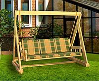 Дерев'яна гойдалка «Шервуд» від виробника для дому та саду