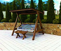 Дерев'яна гойдалка «Модерн» від виробника для дому та саду