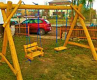 Дерев'яна гойдалка «Дитинство» від виробника для дому та саду