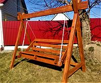 Дерев'яна гойдалка «Принц-3» від виробника для дому та саду