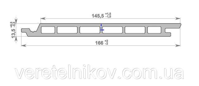 Сайдинг композитный (ДПК) HOLZDORF Alter 165х13 мм (Хольцдорф Aльтер)