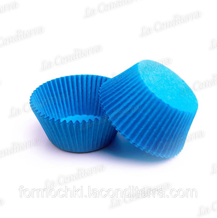Пергаментные формы для кексов голубые 7а (Ø50, бортик – 30 мм), 2000 шт.