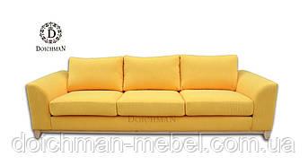 Диван трехместный нераскладной желтый
