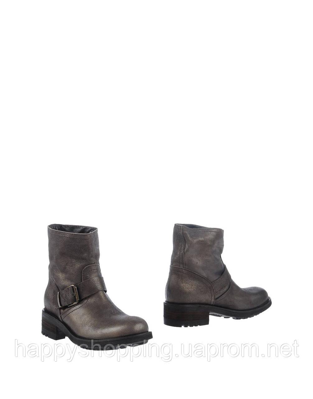 Женские итальянские стильные  бронзовые ботинки  Mally из натуральной кожи
