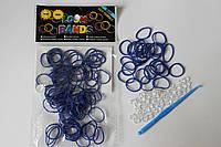100 штук синих резиночек для плетения Loom Bands
